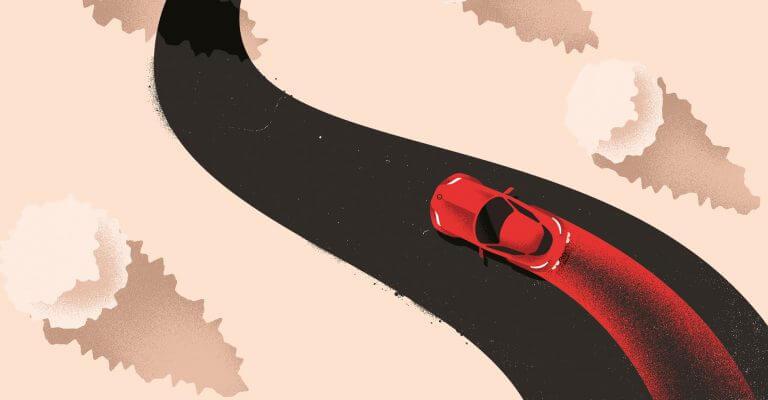 El coche rojo