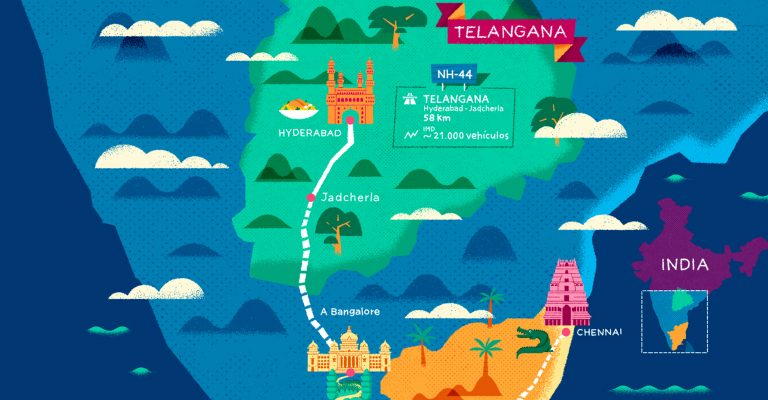 The route across India that tourists never see