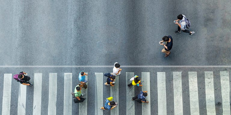 Intelligent pedestrian crossings to save cellphone addicts
