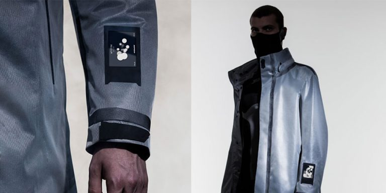 The motorcycle jacket that warns of contamination