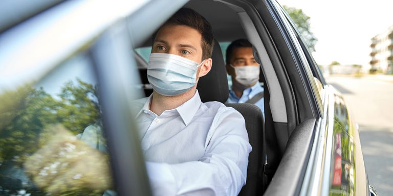 Is it necessary to use a face mask in a private vehicle?