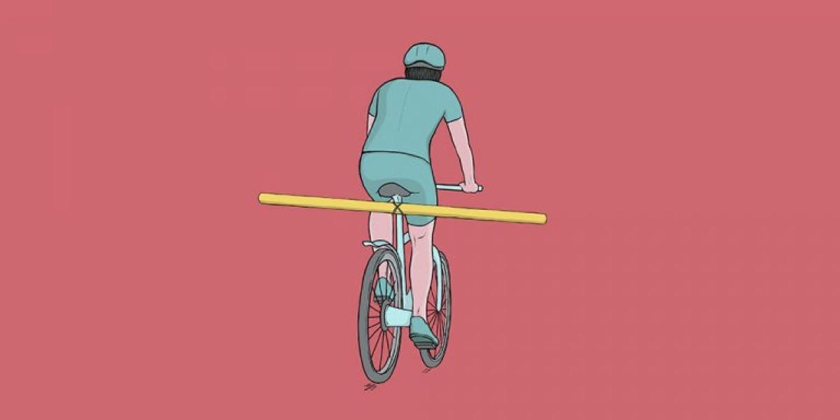 Churros de piscina: el hackeo ciclista de la seguridad vial