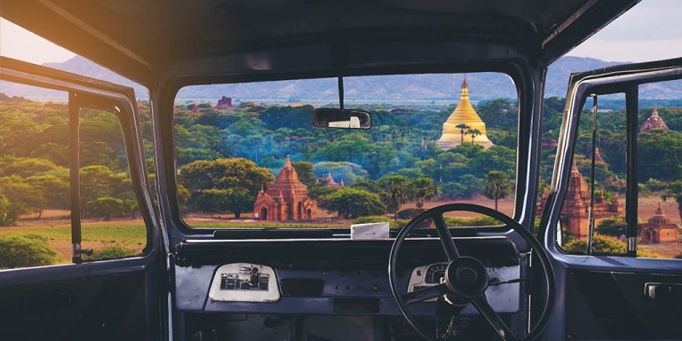 Myanmar: How to drive on the right when the steering wheel is also on the right?