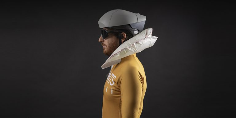A helmet with an 'airbag' will prevent spinal cord injuries to cyclists