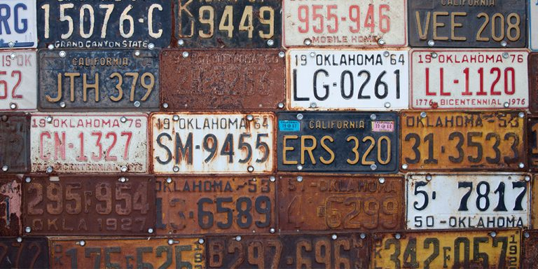 The history of car license plates: Did you know that they weren't always obligatory?